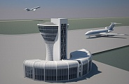 Project of control tower at Nalchik Airport