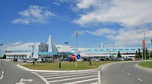 the terminal at Khanty-Mansiysk Airport