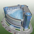 Project of the office building with garage at Sheremetyevo Airport