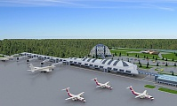 Project of the terminal at Khanty-Mansiysk Airport