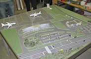 Model of terminal in Anapa airport